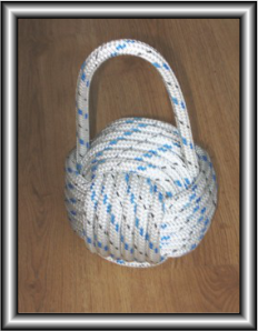 Door stop made from climbing rope